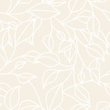 Floral seamless pattern with leaf. Vector neutral pastel  backgr Stock Images