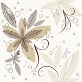 Floral seamless pattern. Leaves background stock illustration