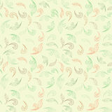 Floral seamless pattern. leaves background. Floral tile ornamental texture with doodle leaf. Spring flourish garden Stock Image