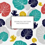 Floral Seamless Pattern with Leaves royalty free illustration