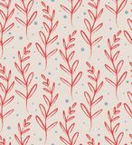 Floral pattern. Floral seamless pattern with leaves. Vector illustration Stock Photos