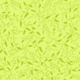 Floral seamless pattern with leaves. Vector Royalty Free Stock Photo