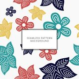 Floral Seamless Pattern background stock illustration