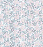 Floral seamless pattern with lilac and pink flowers. floral seamless background. Stock Images