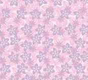 Floral seamless pattern with lilac and pink flowers. floral seamless background. Royalty Free Stock Image