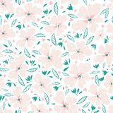 Little flowers. Seamless pattern with cute flowers. Delicate texture stock illustration