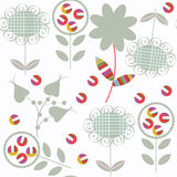 Floral seamless pattern. It is locate in swatch menu,  ima Royalty Free Stock Photo