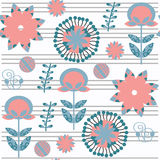 Floral seamless pattern. It is located in swatch meni,  Stock Images