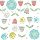 Floral seamless pattern, . It is located in swatch menu,. Abstract design  illustration. Cute image vector Stock Image