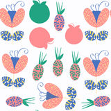 Floral seamless pattern. It is located in swatch menu,  im. Floral seamless pattern. It is located in swatch menu, vector image Stock Photo