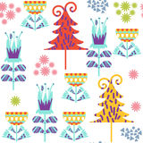 Floral seamless pattern. It is located in swatch menu,  im. Floral seamless pattern. It is located in swatch menu, vector  image. Colorful backdrop for design Stock Photo