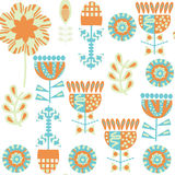 Floral seamless pattern. It is located in swatch menu,  im. Age. Colorful background vector Royalty Free Stock Photography