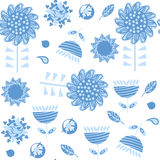Floral seamless pattern. It is located in swatch menu,  im Stock Images