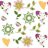 Floral seamless pattern. It is located in swatch menu,. Floral seamless pattern. It is located in swatch menu, vector  image Stock Photo