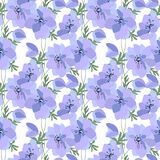 Floral seamless pattern made of spring anemones. Stock Images