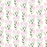 Floral seamless pattern made of stylized flowers. Endless texture for  design, decoration,  greeting cards, posters,  invitations, advertisement Stock Images