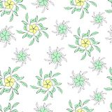 Floral seamless pattern made of stylized flowers. vector illustration