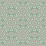 Floral seamless pattern. Olive green background with pale pink flower elements. For wallpapers, textile and fabrics Stock Photos