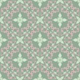 Floral seamless pattern. Olive green background with pale pink flower elements. For wallpapers, textile and fabrics Stock Image