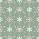 Floral seamless pattern. Olive green background with pale pink flower elements. For wallpapers, textile and fabrics Royalty Free Stock Photo