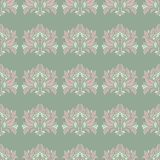 Floral seamless pattern. Olive green background with pale pink flower elements. For wallpapers, textile and fabrics Stock Photo