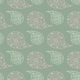 Floral seamless pattern. Olive green background with pale pink flower elements. For wallpapers, textile and fabrics Stock Images