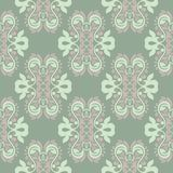 Floral seamless pattern. Olive green background with pale pink flower elements. For wallpapers, textile and fabrics Royalty Free Stock Image