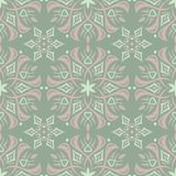 Floral seamless pattern. Olive green background with pale pink flower elements. For wallpapers, textile and fabrics Stock Photography