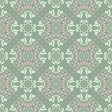 Floral seamless pattern. Olive green background with pale pink flower elements. For wallpapers, textile and fabrics Royalty Free Stock Photography