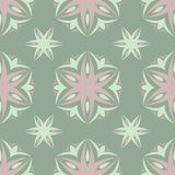 Floral seamless pattern. Olive green background with pale pink flower elements. For wallpapers, textile and fabrics Royalty Free Stock Photos