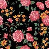 Floral seamless pattern. Oornamental flower background stock illustration
