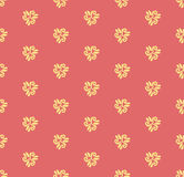 Floral Seamless  Pattern. Floral  ornament. Seamless abstract oriental pattern with red background and golden elements Stock Image