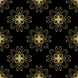 Floral Seamless  Pattern. Floral  ornament. Fine seamless abstract oriental golden pattern Stock Images