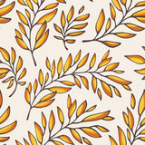 Floral seamless pattern with outline branches Royalty Free Stock Image