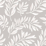 Floral seamless pattern with outline branches Stock Images