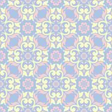 Floral seamless pattern. Pale blue background with beige and pink flower elements. For wallpapers, textile and fabrics Royalty Free Stock Photos