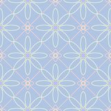 Floral seamless pattern. Pale blue background with beige and pink flower elements. For wallpapers, textile and fabrics Stock Image