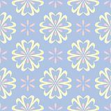 Floral seamless pattern. Pale blue background with beige and pink flower elements. For wallpapers, textile and fabrics Royalty Free Stock Images