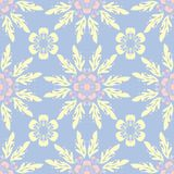 Floral seamless pattern. Pale blue background with beige and pink flower elements. For wallpapers, textile and fabrics Stock Photography