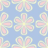 Floral seamless pattern. Pale blue background with beige and pink flower elements. For wallpapers, textile and fabrics royalty free illustration