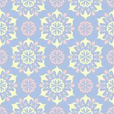 Floral seamless pattern. Pale blue background with beige and pink flower elements. For wallpapers, textile and fabrics Stock Images