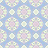 Floral seamless pattern. Pale blue background with beige and pink flower elements. For wallpapers, textile and fabrics Royalty Free Stock Photography
