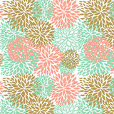 Floral seamless pattern in pastel colors. Stock Photos