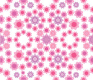 Floral seamless pattern in pink colors Royalty Free Stock Photography