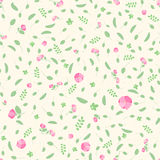 Floral seamless pattern. Pink flowers, leaves stock illustration