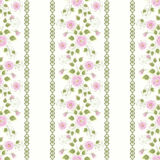 Floral seamless pattern , pink flowers  light background stripes. Stock Image