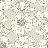 Floral seamless pattern with poppies Stock Photo