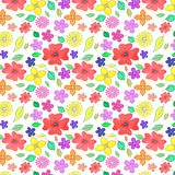 Floral Seamless Pattern with poppies royalty free illustration