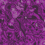 Floral seamless pattern purple colors Stock Images