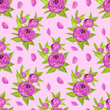 Floral seamless pattern in purple flowers for textile print, book cover, wallpaper, manufacturing, wrap, scrapbooking Stock Photos